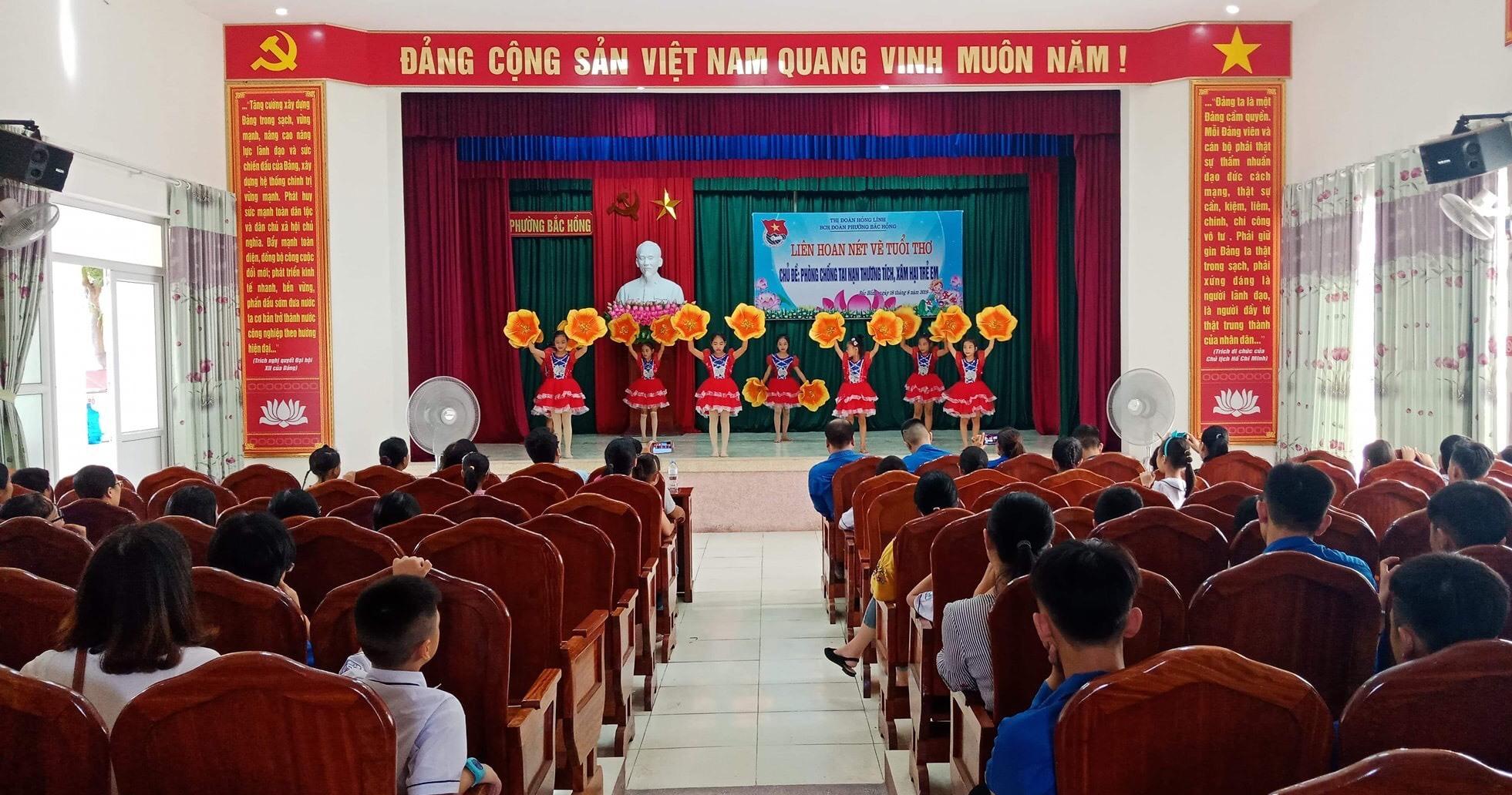 Liên hoan nét vẽ tuổi thơ với chủ đề phòng chống tai nạn thương tích, xâm hại trẻ em ở Đoàn phường Bắc Hồng