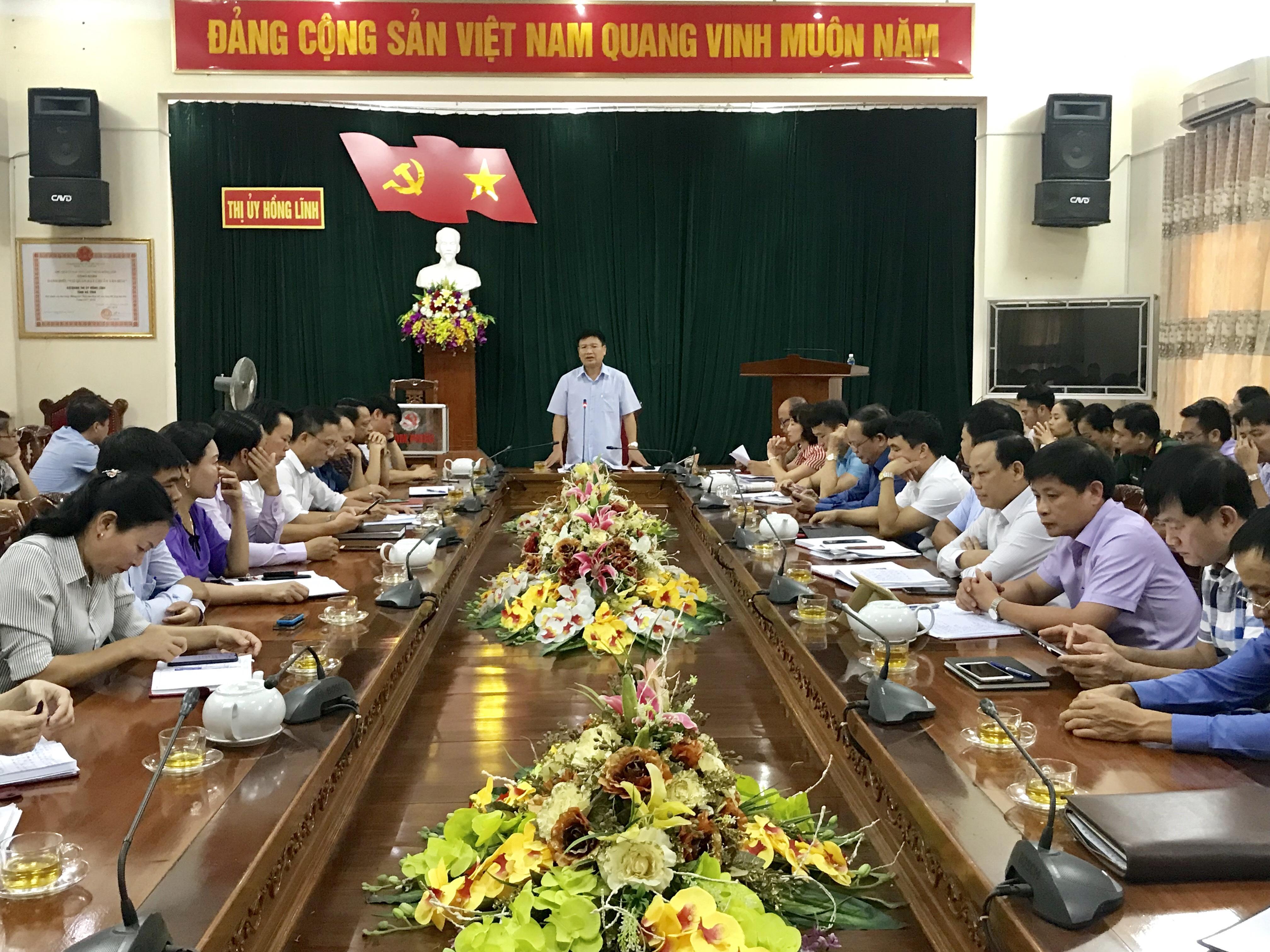 BTV Thị ủy Hồng Lĩnh tổ chức Hội nghị thực hiện rà soát, bổ sung quy hoạch cán bộ
