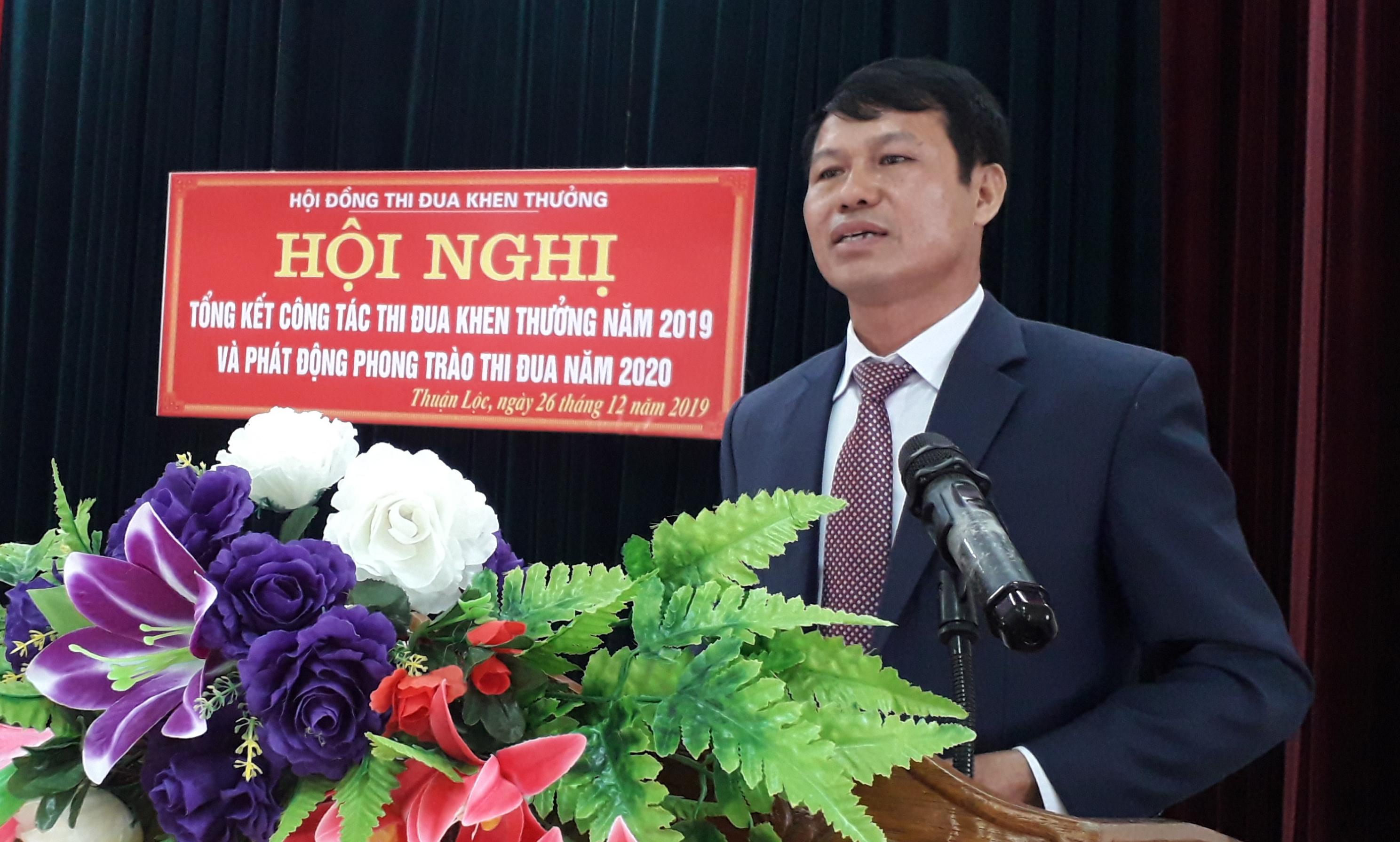 Xã Thuận Lộc tổng kết phong trào thi đua yêu nước năm 2019, triển khai nhiệm vụ năm 2020