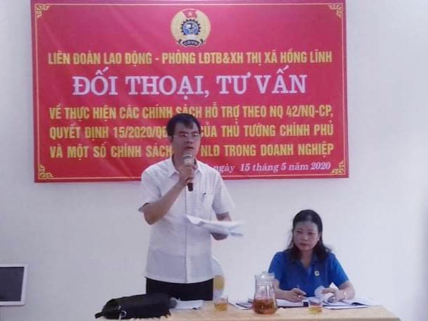 Hồng Lĩnh: Tổ chức đối thoại, tư vấn về thực hiện các chính sách cho người lao động trong doanh nghiệp