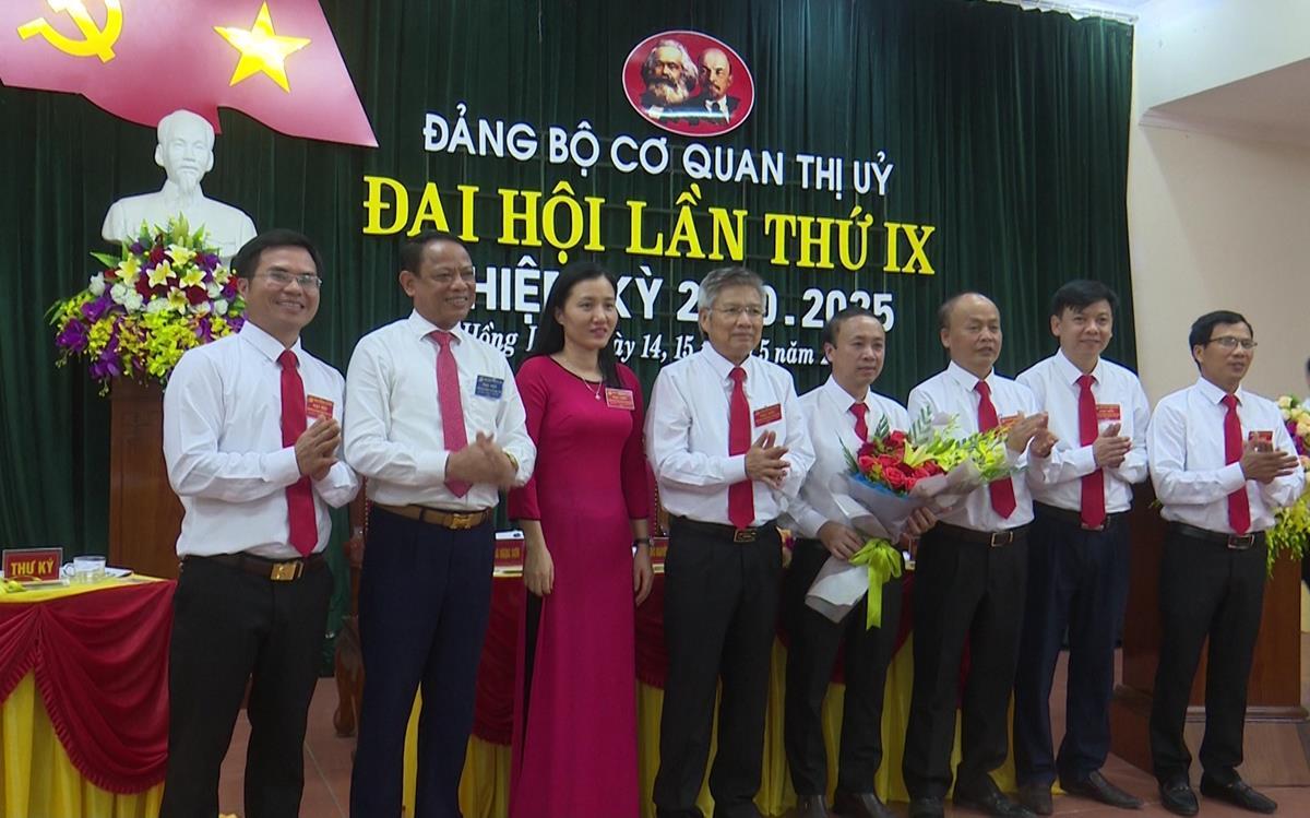 Đảng bộ cơ quan Thị ủy Hồng Lĩnh tổ chức Đại hội lần thứ IX, nhiệm kỳ 2020 -2025
